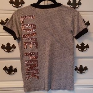 VS Pink Bling Tee size XS